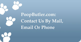 PoopButler: Contact Us By Mail, Email Or Phone