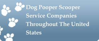 Dog Pooper Scooper Service Companies Throughout The United States